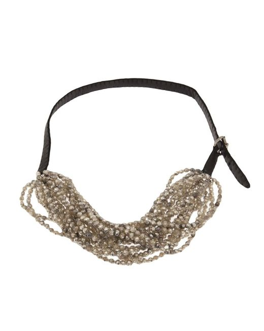 Jean-Francois Mimilla | Black Beaded Necklace | Lyst
