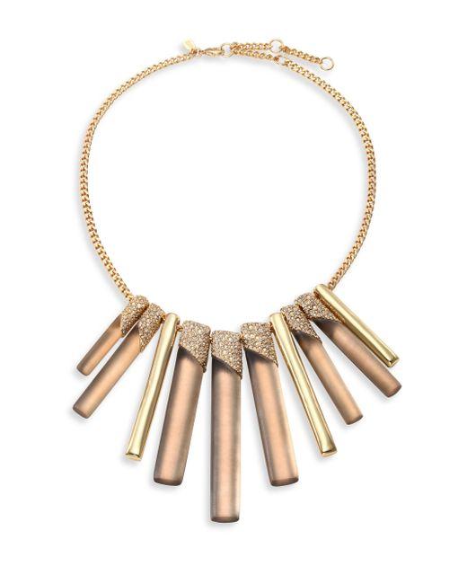 Alexis Bittar   Metallic Lucite Luna Crystal Bib Necklace   Lyst