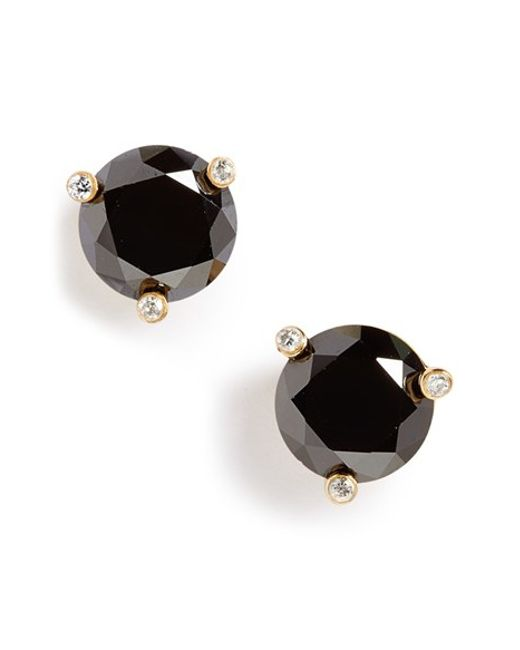 kate spade new york | Black 'rise And Shine' Stud Earrings | Lyst