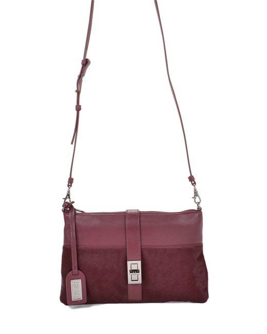 Badgley Mischka | Purple Anabelle Nappa/haircalf Handbag | Lyst