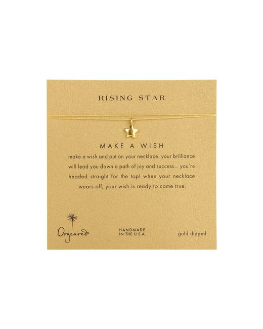 Dogeared | Metallic Make A Wish Rising Star Necklace | Lyst