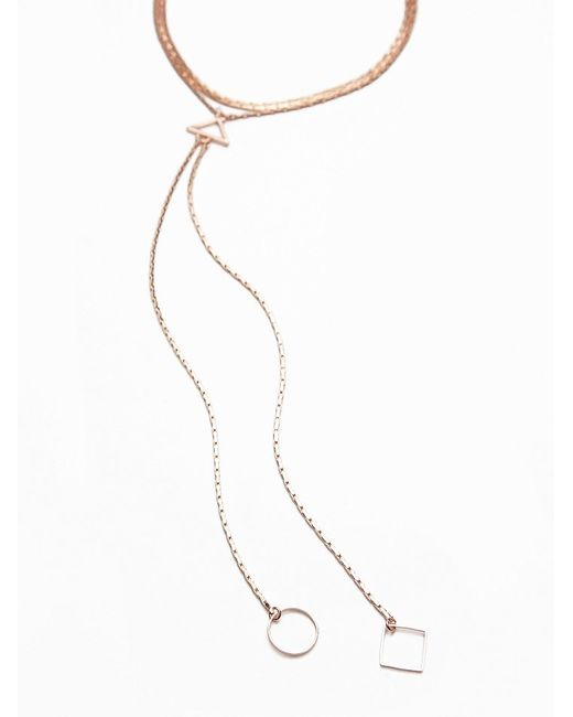 Free People | Pink Delicate Chain Choker Bolo | Lyst