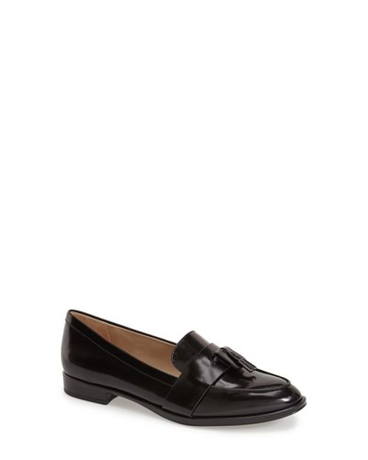 Via Spiga | Black Amica Leather Loafers | Lyst