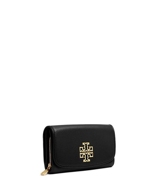 Tory Burch | Black Britten Duo Envelope Continental Wallet | Lyst