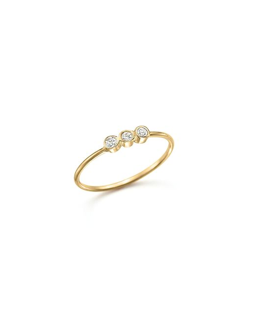 Zoe Chicco | Metallic 14k Yellow Gold And Diamond Bezel-set Ring | Lyst