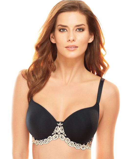 Wacoal | Black Embrace Lace Scalloped T-shirt Bra | Lyst