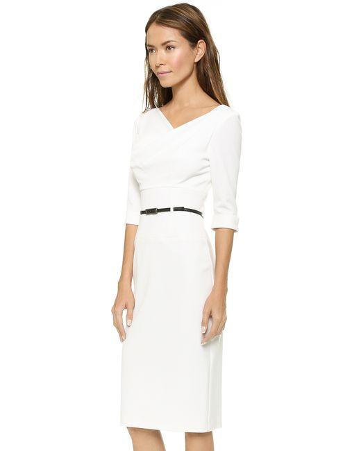 Black Halo 3 4 Sleeve Jackie O Dress In White Lyst