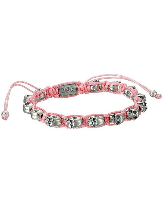 King Baby Studio | Pink Macrame Bracelet W/ Alloy Skulls | Lyst