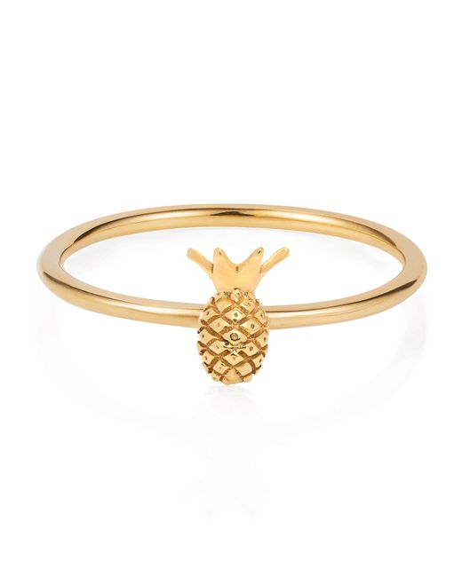 Lee Renee | Metallic Tiny Pineapple Ring Gold Vermeil | Lyst