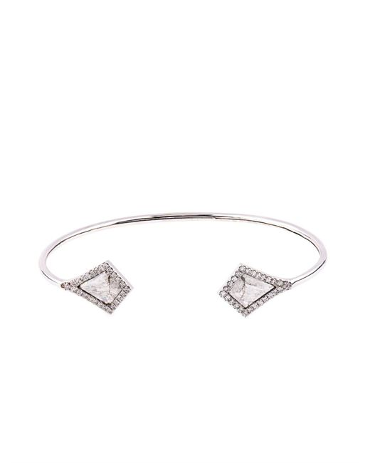 Susan Foster | Metallic Diamond Slice & White-Gold Bracelet | Lyst