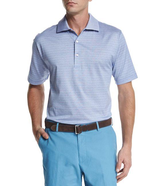 Peter millar callicut striped short sleeve polo shirt in for Peter millar polo shirts