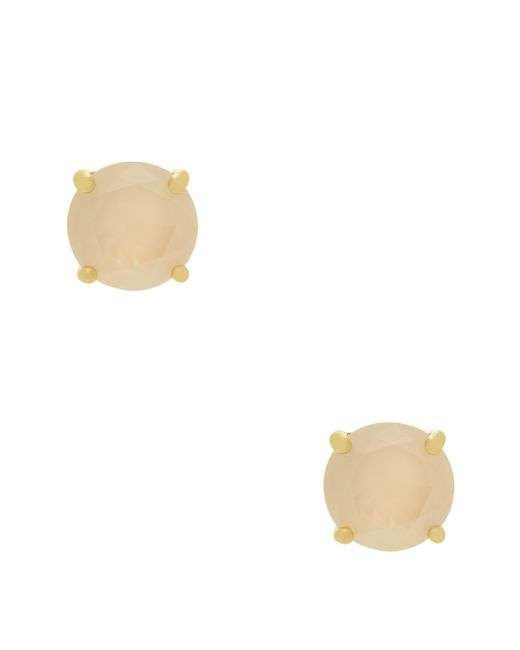 kate spade new york | Metallic Small Square Studs | Lyst