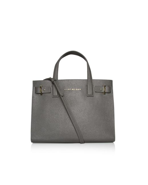 Kurt Geiger | Gray Saffiano London Tote Bag | Lyst