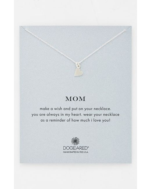 Dogeared | Metallic 'mom' Pendant Necklace | Lyst