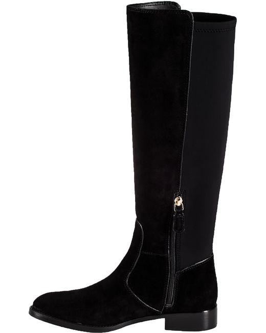 burch seldon suede boots in black lyst
