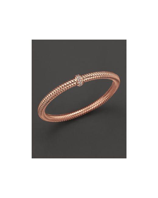 Roberto Coin | Pink 18k Rose Gold Primavera Diamond Stretch Bracelet | Lyst