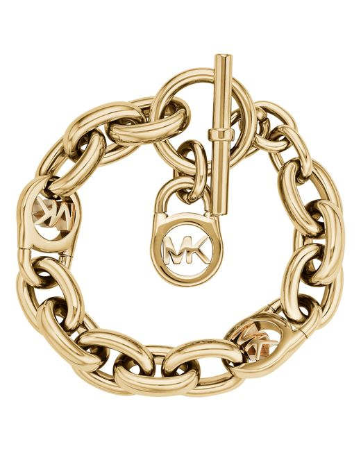 Michael Kors | Metallic Mk Link Bracelet | Lyst