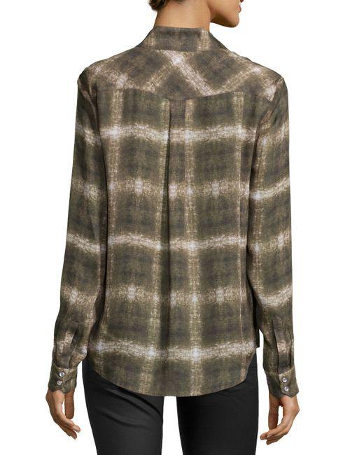 Haute Hippie Basic Western Long Sleeve Shirt In Green