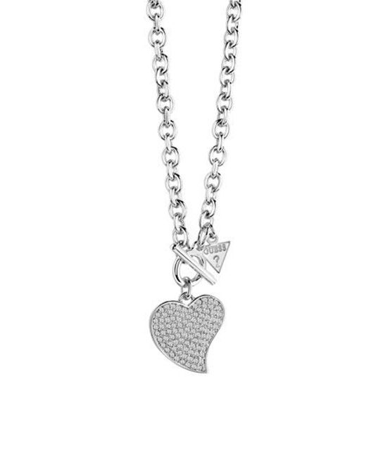 Guess | Metallic Love Necklace | Lyst