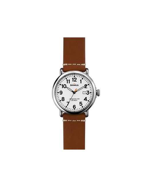 Shinola | Brown Runwell Watch, 41mm for Men | Lyst