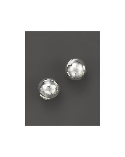 Ippolita | Metallic Glamazon Sterling Silver Hammered Ball Stud Earrings | Lyst