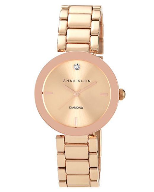 Anne Klein | Metallic Mirror Bezel Bracelet Watch | Lyst
