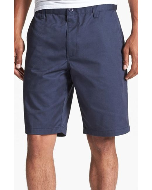 RVCA | Blue Flat Front Twill Shorts for Men | Lyst