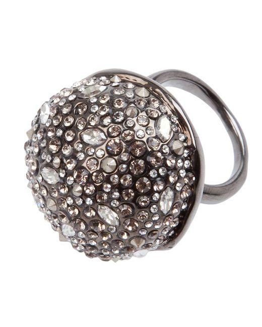 Alexis Bittar   Metallic Crystal Studded Ring   Lyst