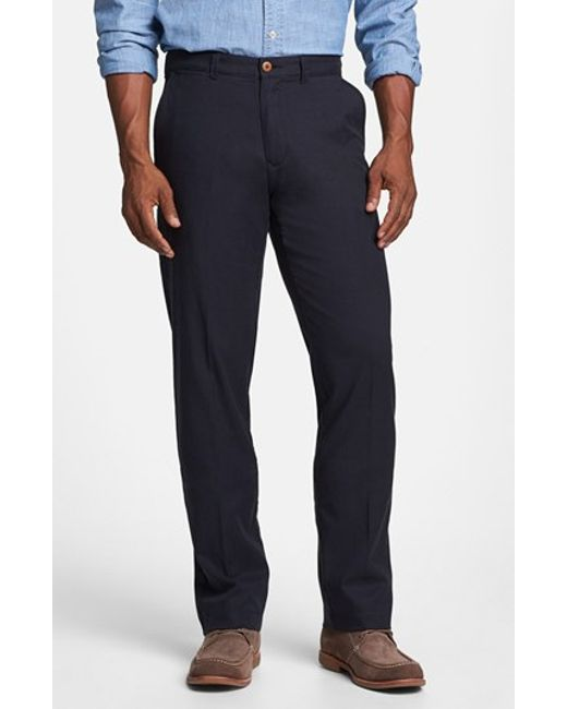 Tommy Bahama | Blue 'bryant' Flat Front Pants for Men | Lyst