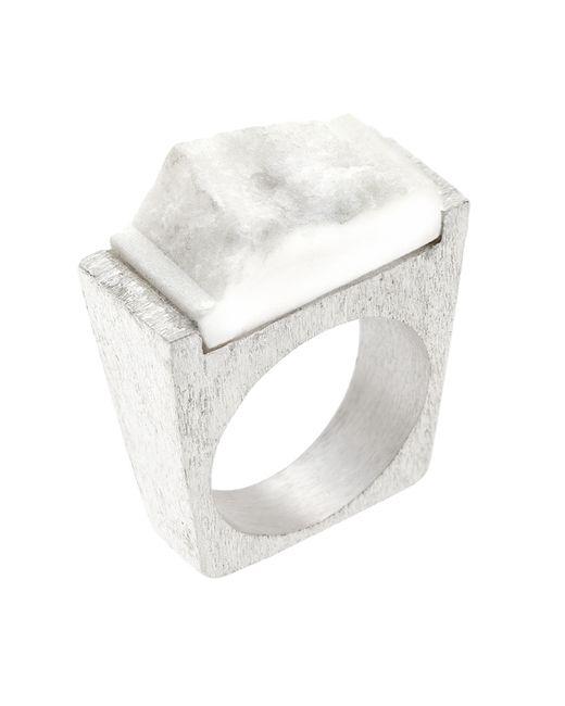 Pasionae | Metallic Snow Silver Ring | Lyst