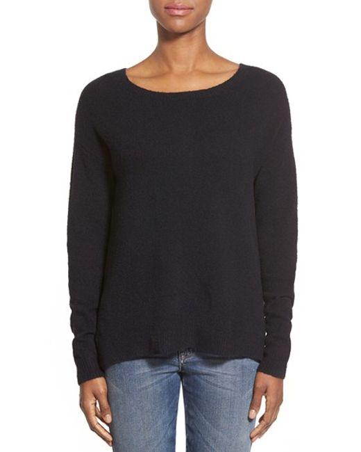 Caslon | Black Caslon Back Zip High/low Sweater | Lyst