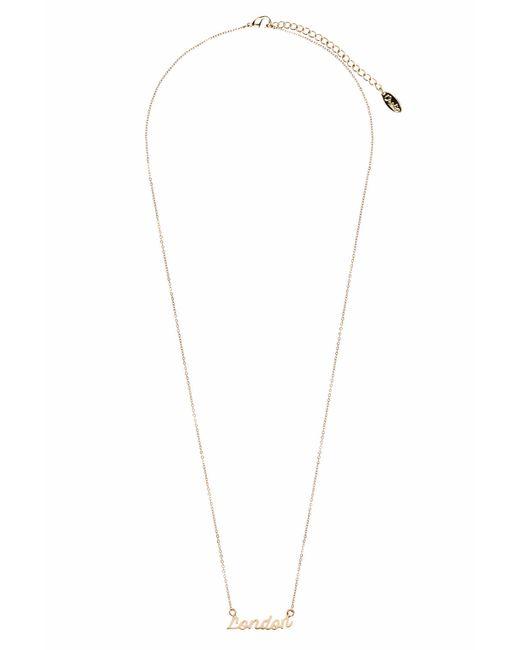 TOPSHOP   Metallic London Necklace By Orelia   Lyst