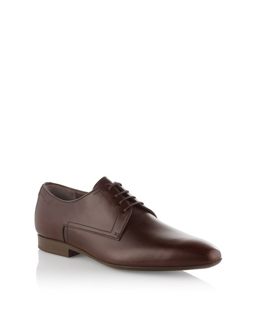 HUGO   Brown Leather Lace-up Shoes 'c-negio' for Men   Lyst