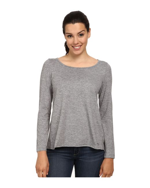Patagonia   Gray Back Wrap Top   Lyst