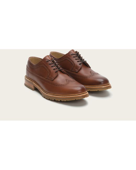Frye | Brown James Lug Wingtip for Men | Lyst