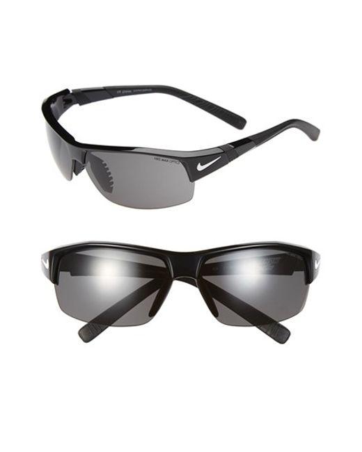 Nike | Black 'show X2' Semi Rimless 69mm Sunglasses for Men | Lyst