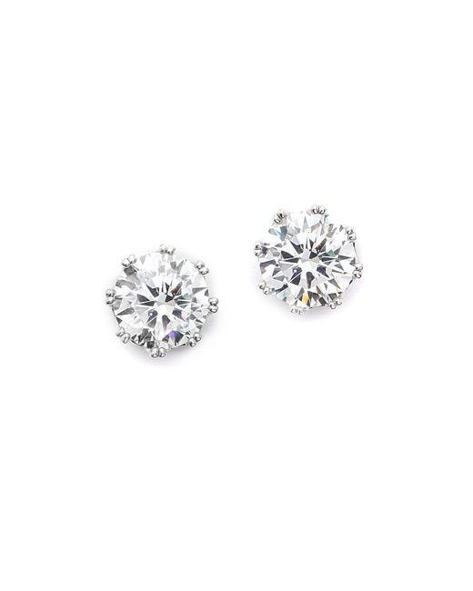 Kenneth Jay Lane | Metallic Round Cz Stud Earrings | Lyst