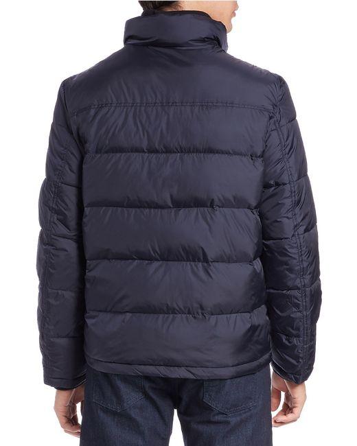 Calvin Klein | Blue Puffer Coat for Men | Lyst