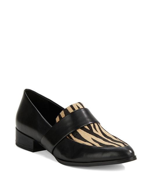 424 Fifth | Black Valentina Leather Loafers | Lyst