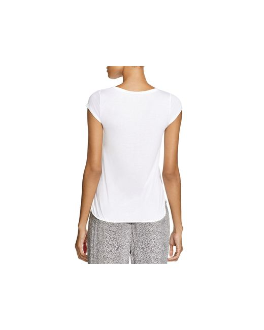 Calvin Klein | White Cap Sleeve Crew Tee | Lyst