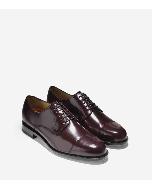 Cole haan Carter Grand Cap Toe Oxford in Purple for Men ...