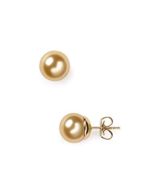 Majorica | Metallic Simulated Pearl Stud Earrings, 10mm | Lyst