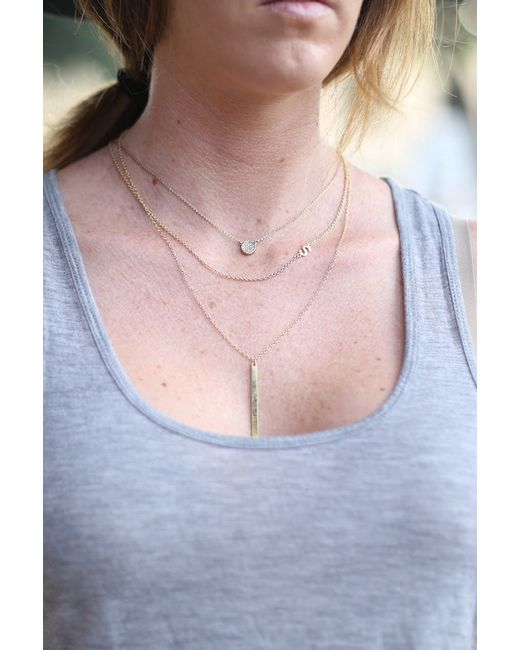 Kris Nations | Metallic Single Bar Necklace | Lyst