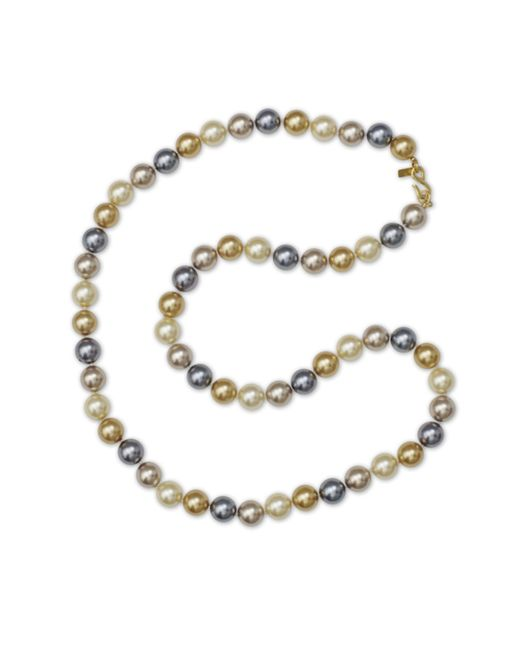 "Kenneth Jay Lane | Multicolor 36"" Multi Color Pearl Necklace 