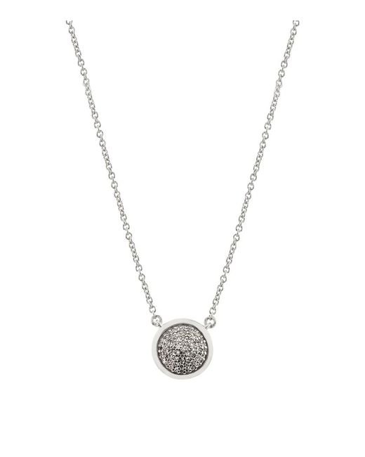 Links of London | Metallic Diamond Essentials Pave Round Necklace | Lyst