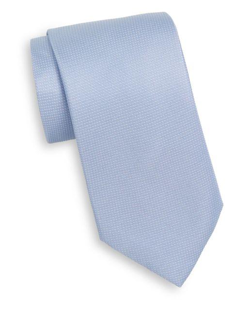 Saks Fifth Avenue | Blue Pindot Silk Tie for Men | Lyst