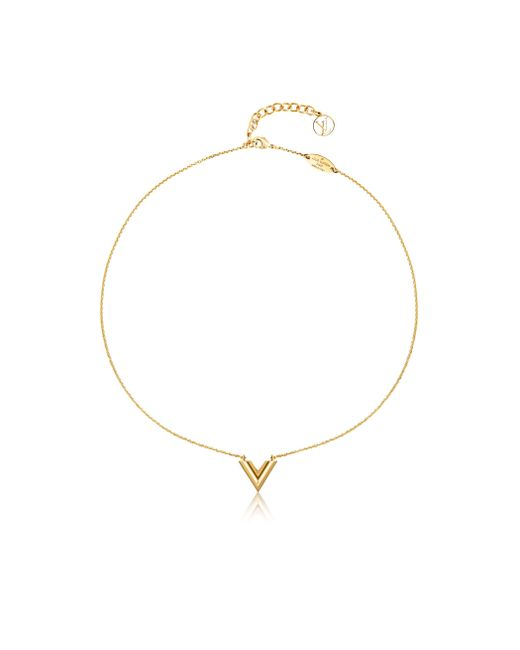 Louis Vuitton | Metallic Essential V Necklace | Lyst