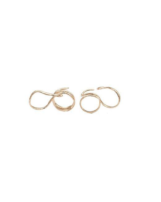 Bernard Delettrez | Metallic Snake Gold Two Finger Ring | Lyst