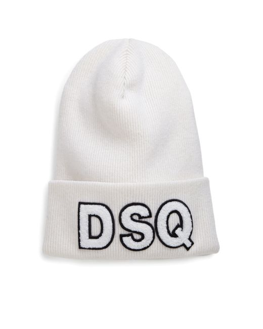 DSquared² | White Knit Wool Hat for Men | Lyst