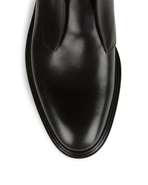 givenchy laceless leather dress shoes in black for lyst